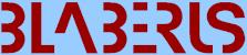 Logo kolonie Blaberus slovo z ojediněle upravených písmen